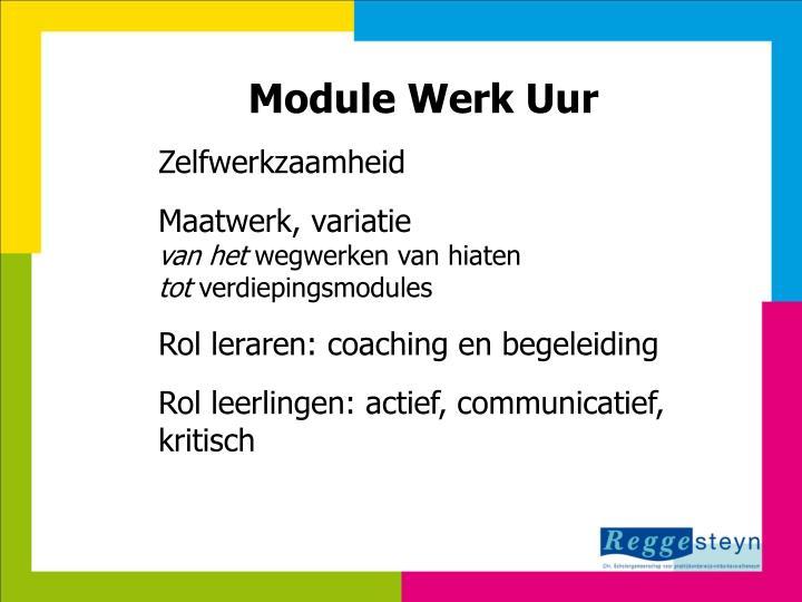 Module Werk Uur
