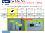 key selling point 1 ultra compact design for optimal portability
