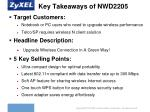 key takeaways of nwd22051