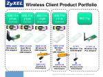 wireless client product portfolio