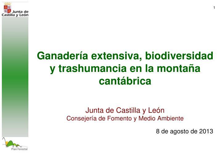 Ganadería extensiva, biodiversidad y trashumancia en la montaña cantábrica
