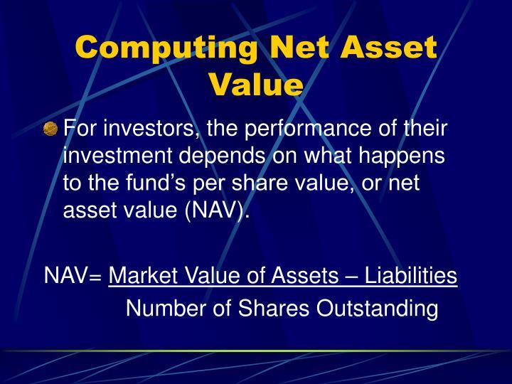 Computing Net Asset Value