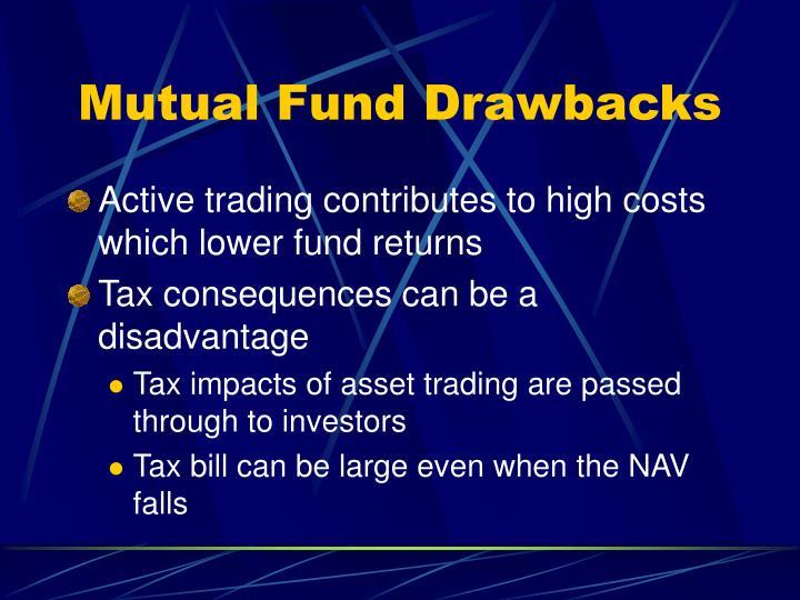 Mutual Fund Drawbacks