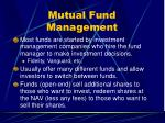 mutual fund management