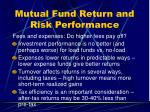 mutual fund return and risk performance2
