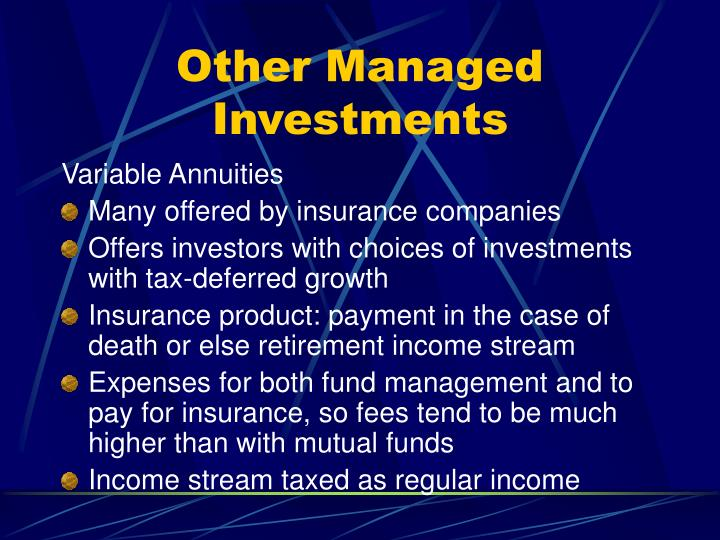 Other Managed Investments
