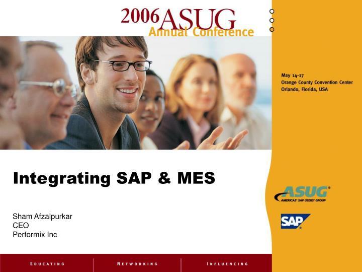 integrating sap mes