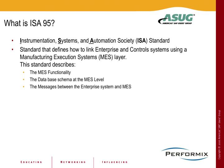 What is ISA 95?