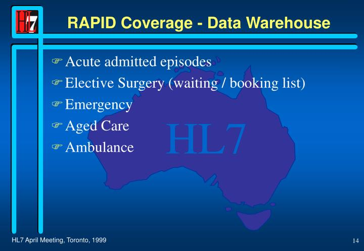 RAPID Coverage - Data Warehouse