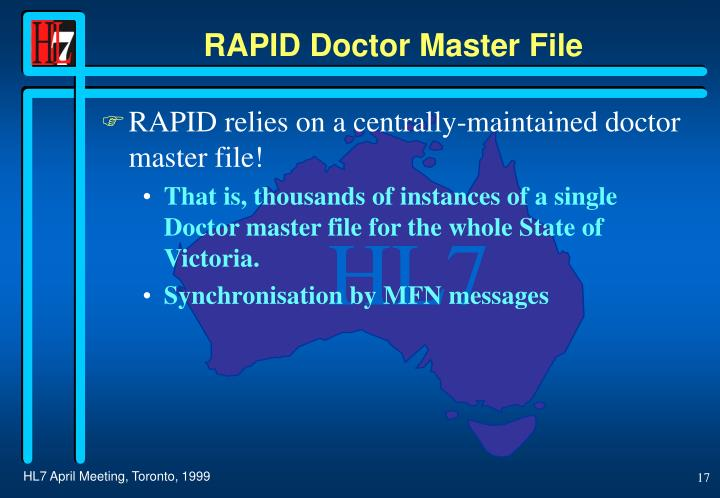 RAPID Doctor Master File