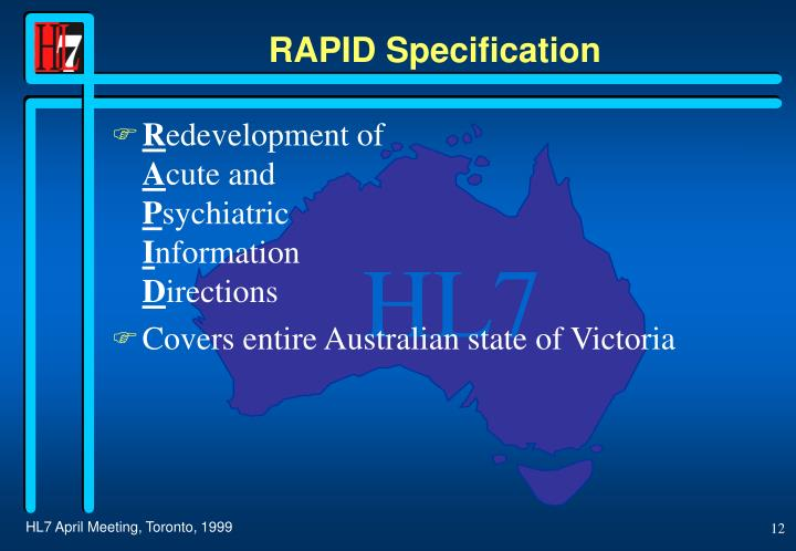 RAPID Specification