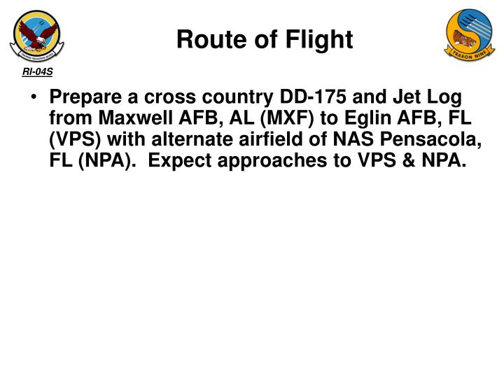 Route of Flight