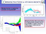 merging fractions vs sfh mass growth