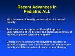 recent advances in pediatric all1