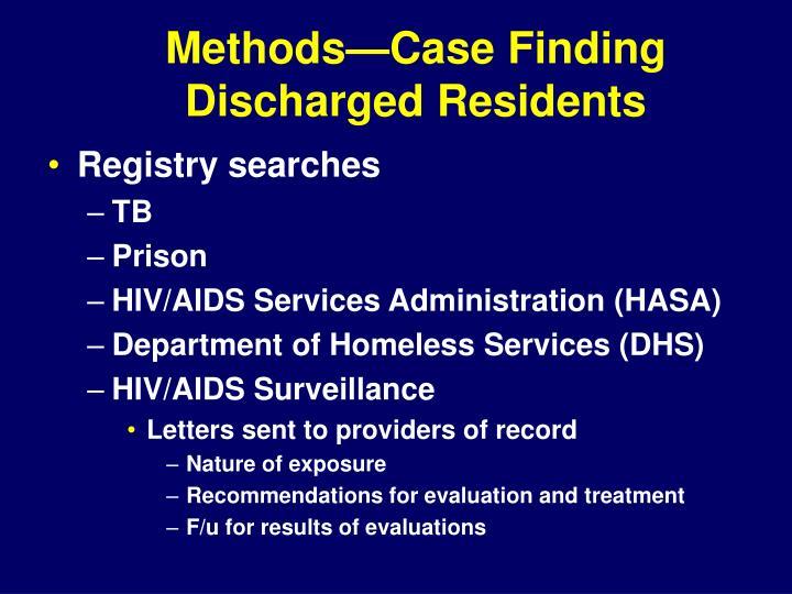 Methods—Case Finding