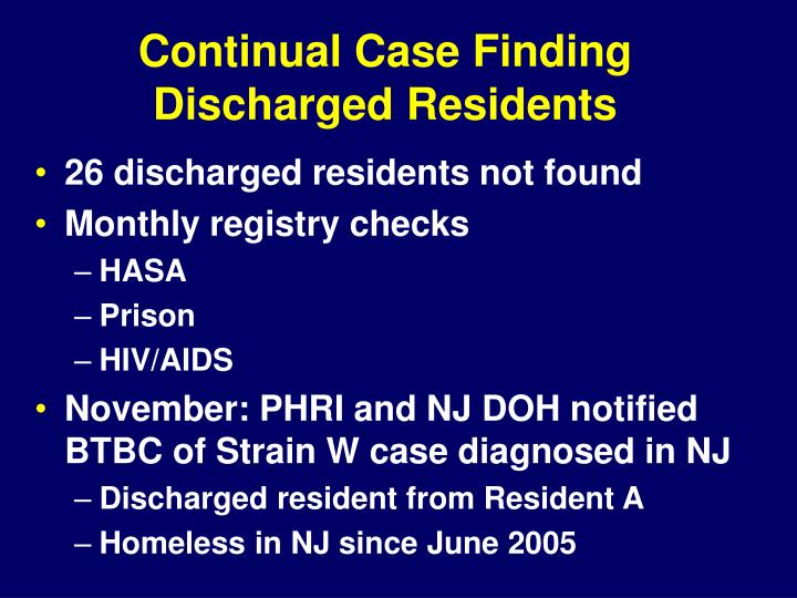 Continual Case Finding