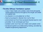 summary of final assessment 1