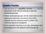 classifier function