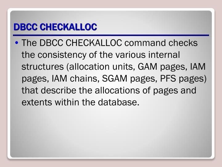DBCC CHECKALLOC