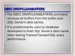 dbcc dropcleanbuffers