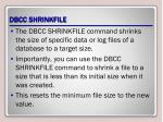 dbcc shrinkfile