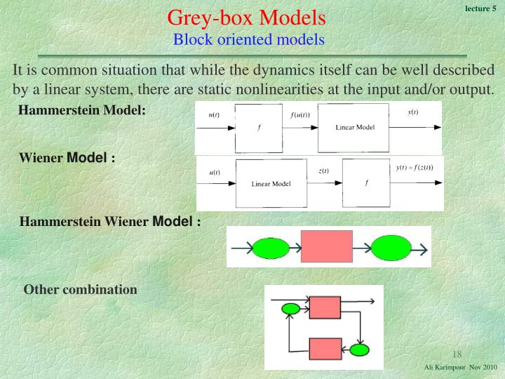 Grey-box Models
