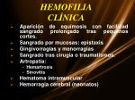 hemofilia cl nica