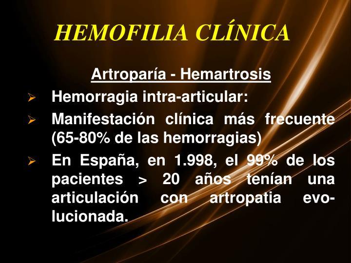 HEMOFILIA CLÍNICA