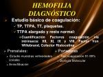 hemofilia diagn stico