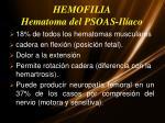 hemofilia hematoma del psoas il aco
