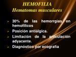 hemofilia hematomas musculares