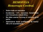 hemofilia hemorragia cerebral