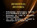 hemofilia historia