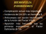 hemofilia inhibidores