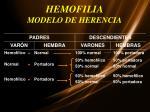 hemofilia modelo de herencia