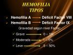 hemofilia tipos