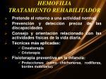 hemofilia tratamiento rehabilitador