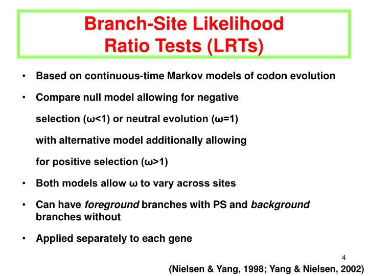 Branch-Site Likelihood