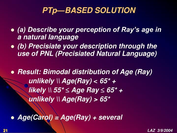 PTp—BASED SOLUTION