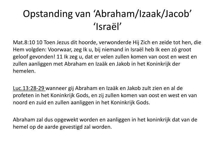 Opstanding van 'Abraham/Izaak/Jacob'