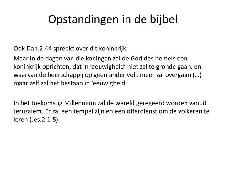 Opstandingen in de bijbel