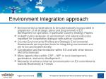 environment integration approach