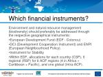which financial instruments