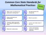 common core state standards for mathematical practices