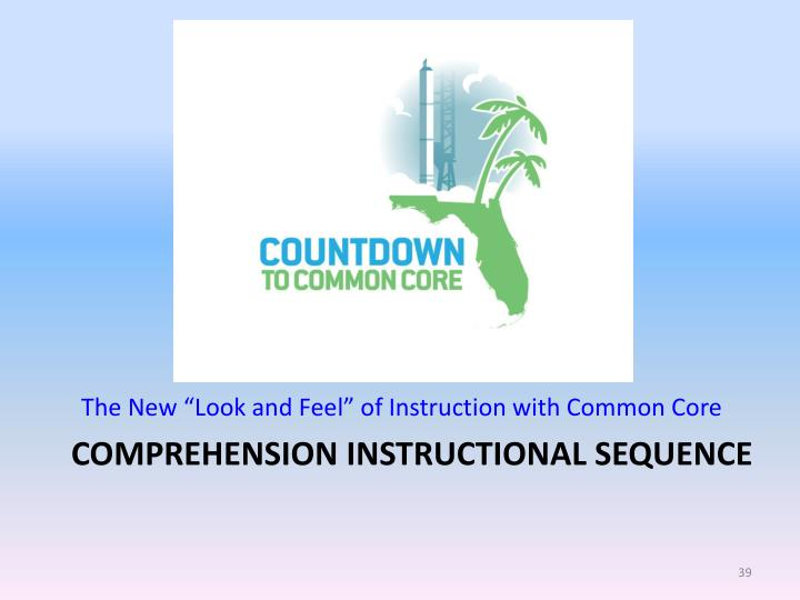 """The New """"Look and Feel"""" of Instruction with Common Core"""