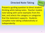 directed note taking