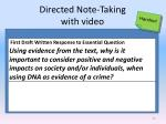 directed note taking with video
