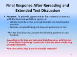 final response after rereading and extended text discussion