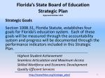 florida s state board of education strategic plan approved october 2012