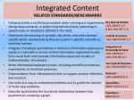 integrated content related standards benchmarks